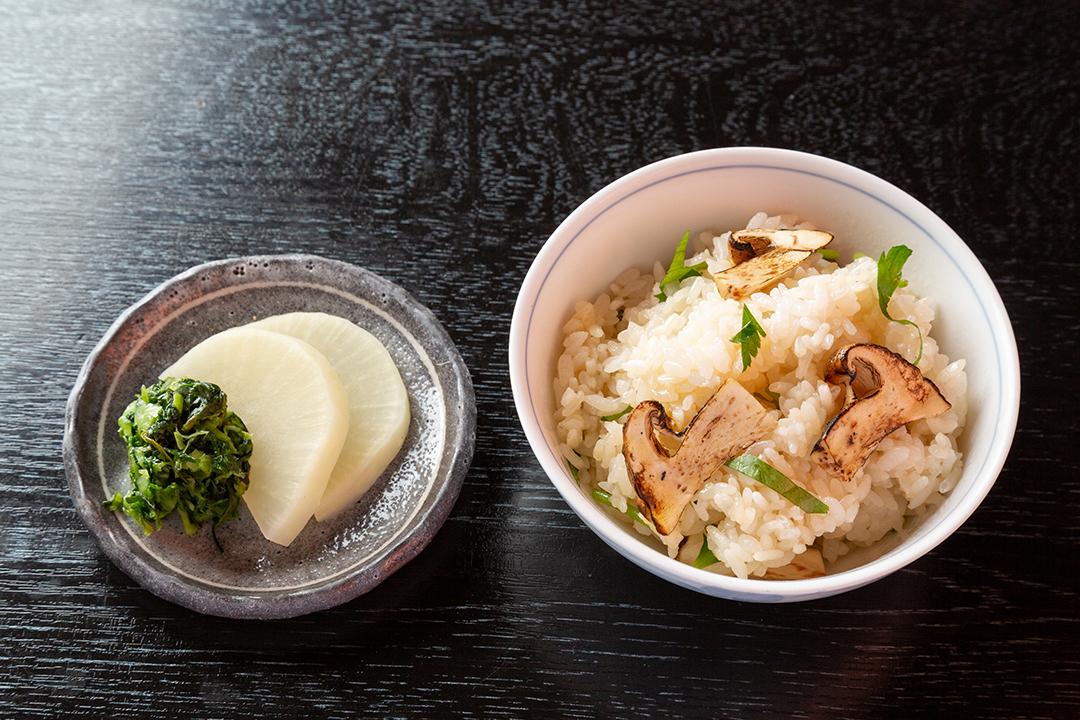 香物 べったら・野沢菜   ご飯 松茸ご飯